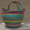 Multicoloured Large Bolgatanga Basket