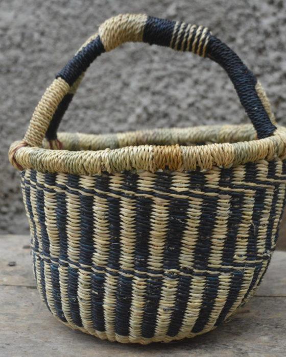 Blue Small Bolgatanga Basket