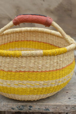 Yellow Bolgatanga Basket