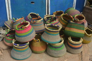 Wholesale Bolga Baskets supplier fairtrade handmade African market baskets bolga baskets from Ghana