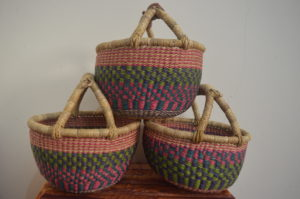 small round baskets. bolga children baskets wholesale baskets
