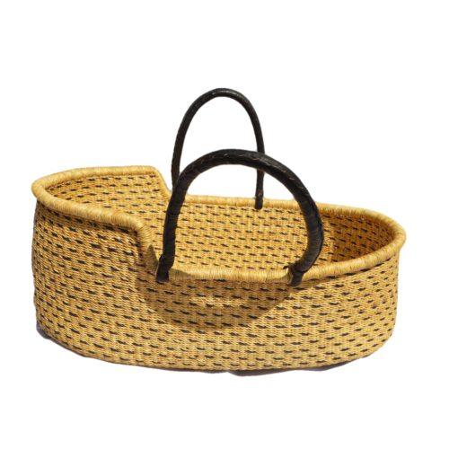 black natural pattern moses baskets