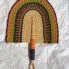 hand-fan-bolga-fans-handheld-fan-hand-fan-colored-orange-green-straw-fan