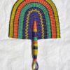 multicolor fan hand fans straw fans bolga ghana fans woven fans wholesale fans worldwide shipping